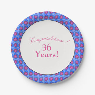 Retro-Floral-Muti-Celebration-Template-Party-Plate Paper Plate