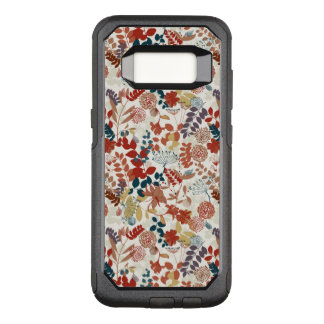 Retro floral pattern 6 OtterBox commuter samsung galaxy s8 case