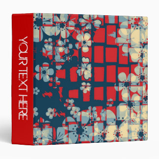 Retro floral pattern and modern design binders