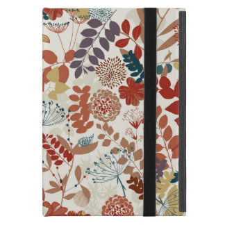 Retro floral pattern cover for iPad mini