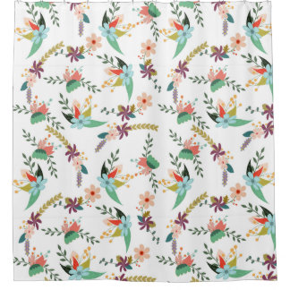 Retro Floral Pattern Flowers Leaves
