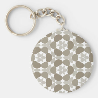retro floral pattern keychain