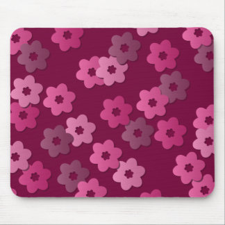 Retro Floral Pattern Mousepad
