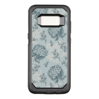 Retro floral pattern with viburnum flowers OtterBox commuter samsung galaxy s8 case