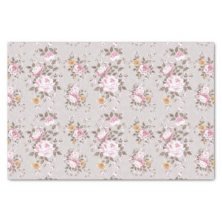 Retro Floral/Roses Pattern Tissue Paper