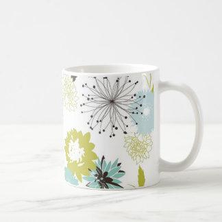Retro Floral Seamless Coffee Mug