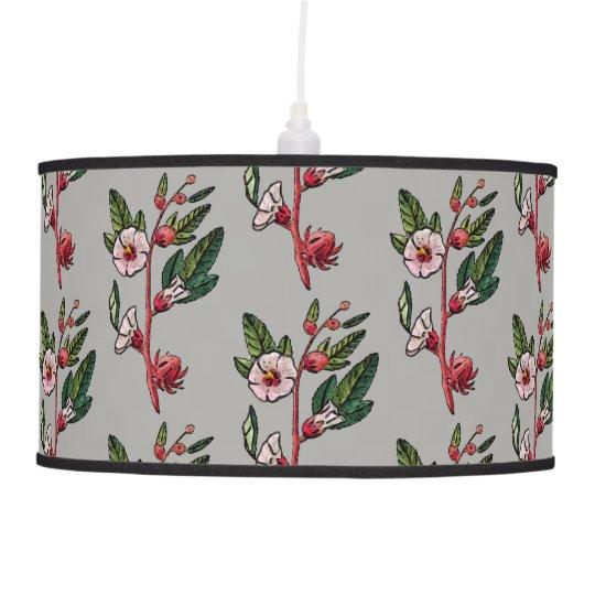 Retro Floral Sprig Pendant Lamp