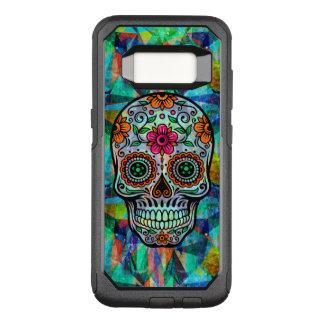 Retro Floral Sugar Skull Geometric Background OtterBox Commuter Samsung Galaxy S8 Case