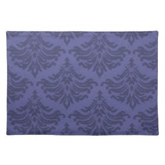 Retro Flourish Blue Violet Placemats