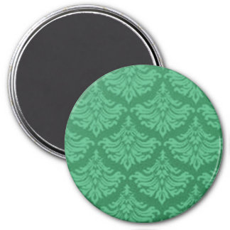 Retro Flourish Green Magnet