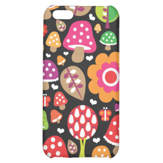 Retro flower and mushroom pattern iphone case cover for iPhone 5C