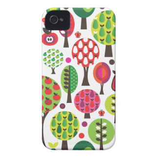Retro flower apple butterfly pattern iphone case