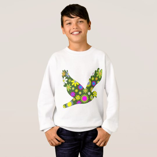 Retro Flower Bird Children's Sweatshirt