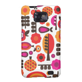 Retro flower butterfly pattern samsung case samsung galaxy cover