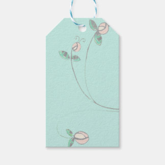 Retro Flower Gift Tag in soft colors Pack Of Gift Tags