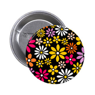 Retro Flower pattern 2 Inch Round Button