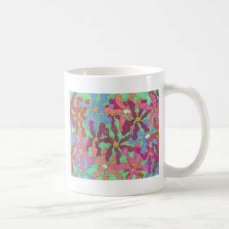 Retro Flower Pattern Boho Design Coffee Mug