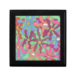 Retro Flower Pattern Boho Design Gift Box