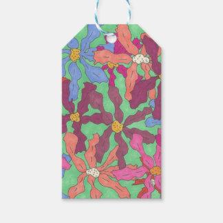 Retro Flower Pattern Boho Design Gift Tags