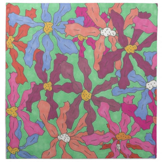 Retro Flower Pattern Boho Design Napkin