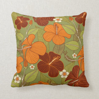 Retro flower pillow