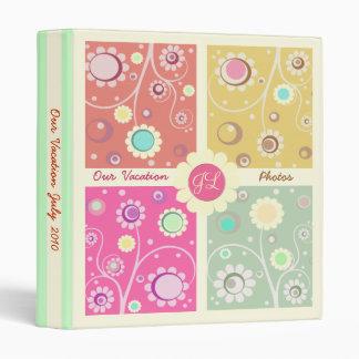 Retro Flowered Color Block Album / Binder