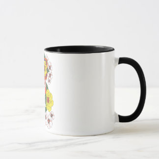 Retro Flowers 1960s Ink Hippie Vintage Mug