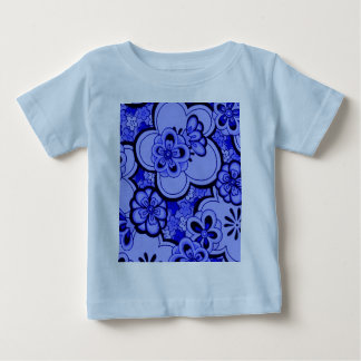 Retro Flowers Abstract Sapphire Infant T-Shirt