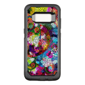 Retro Flowers Colorful Collage Pattern OtterBox Commuter Samsung Galaxy S8 Case
