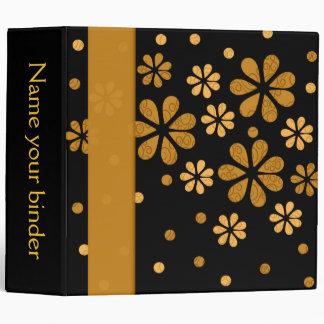 Retro Flowers Dots 2 inch Designer Binder