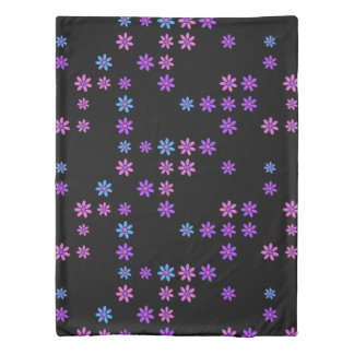 Retro Flowers Duvet Cover