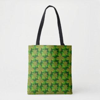 Retro Flowers in 3D , Artdeco Tote Bag