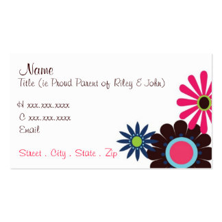 Retro Flowers Mommy Card Pack Of Standard Business Cards