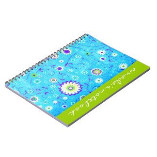 Retro Flowers Notepad Note Book