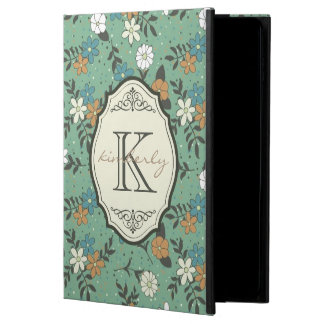 Retro Flowers with Elegant Vintage Frame Monogram Powis iPad Air 2 Case