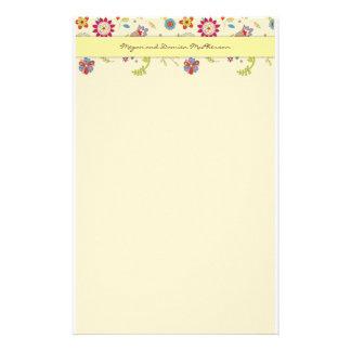 Retro Flowers · Yellow · Stationery