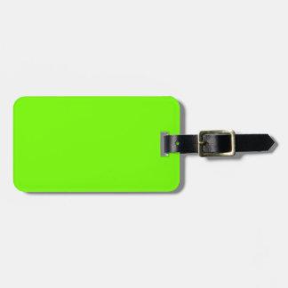 Retro Fluoro Lime-Green Travel Series Luggage Tag