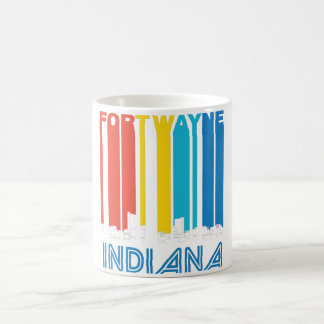 Retro Fort Wayne Indiana Skyline Coffee Mug
