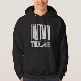Retro Fort Worth Texas Skyline Hoodie