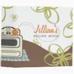 Rétro fourneau/livre moderne de recette de cuisine