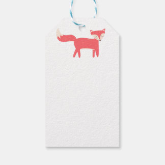 Retro Fox Pack Of Gift Tags