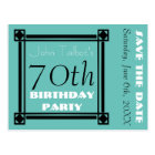 Retro Frame 70th birthday Party Save the Date Postcard