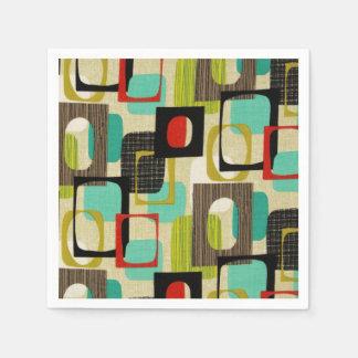Retro Framed Tan Paper Napkins