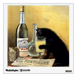 """Retro french poster """"absinthe bourgeois"""" wall sticker"""