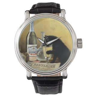 "Retro french poster ""absinthe bourgeois"" watches"