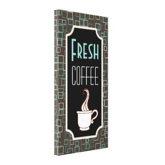 Retro Fresh Coffee Shop Wall Art Kitchen Sign Gift