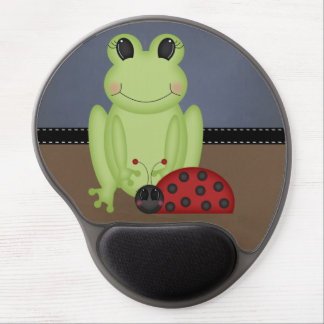 Retro Frog and Ladybug Gel Mouse Pad