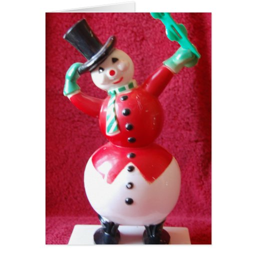 Retro Frosty the Snowman Cards
