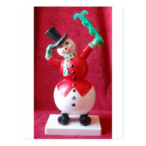 Retro Frosty the Snowman Post Card