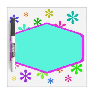 Retro Fun and Flowers Dry Erase Board